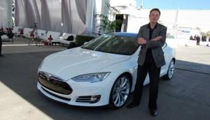 Elon Musk tesla car